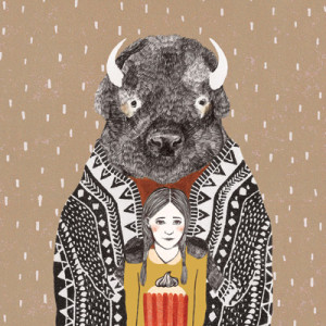 Postkaart_bizon01_Liekeland_SHOP_2000pix-3